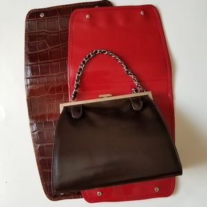 Victoria Wieck Leather Purse with Removable Panels